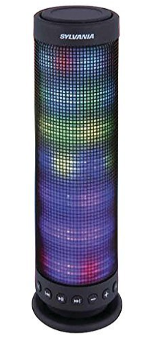 Sylvania Sp618-Black Light-Up Neon Speaker