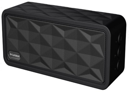 Sylvania SP262-BLACK Rugged Portable Bluetooth Speaker