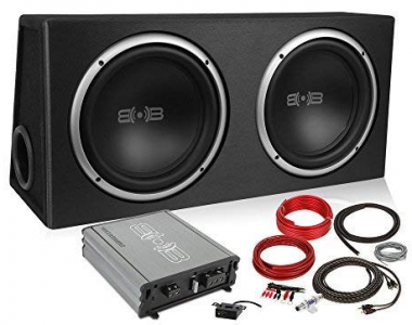 Belva 1000 watt Complete Car Subwoofer Package Includes Two (2) 10-inch Subwoofers