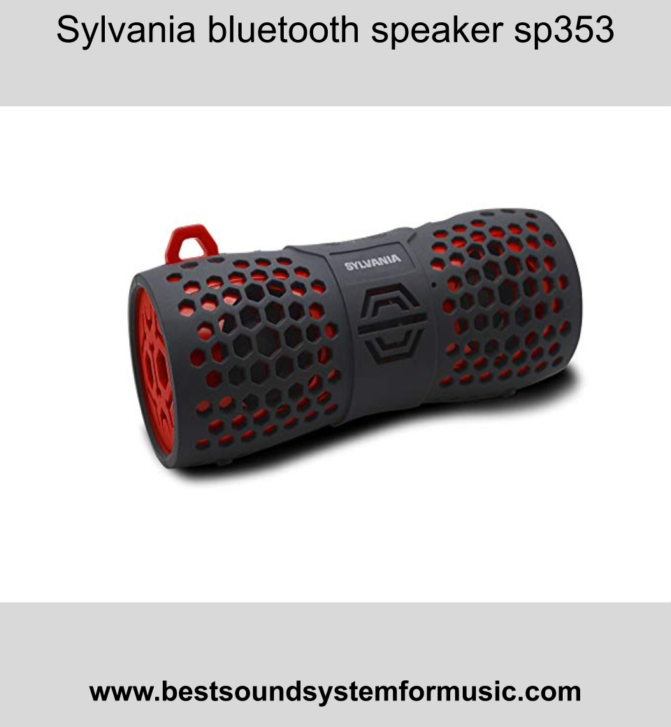 Sylvania bluetooth speaker sp353