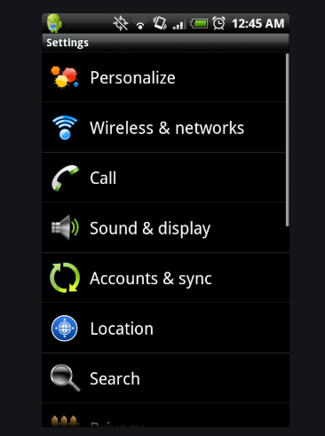 To connect from Android Bluetooth