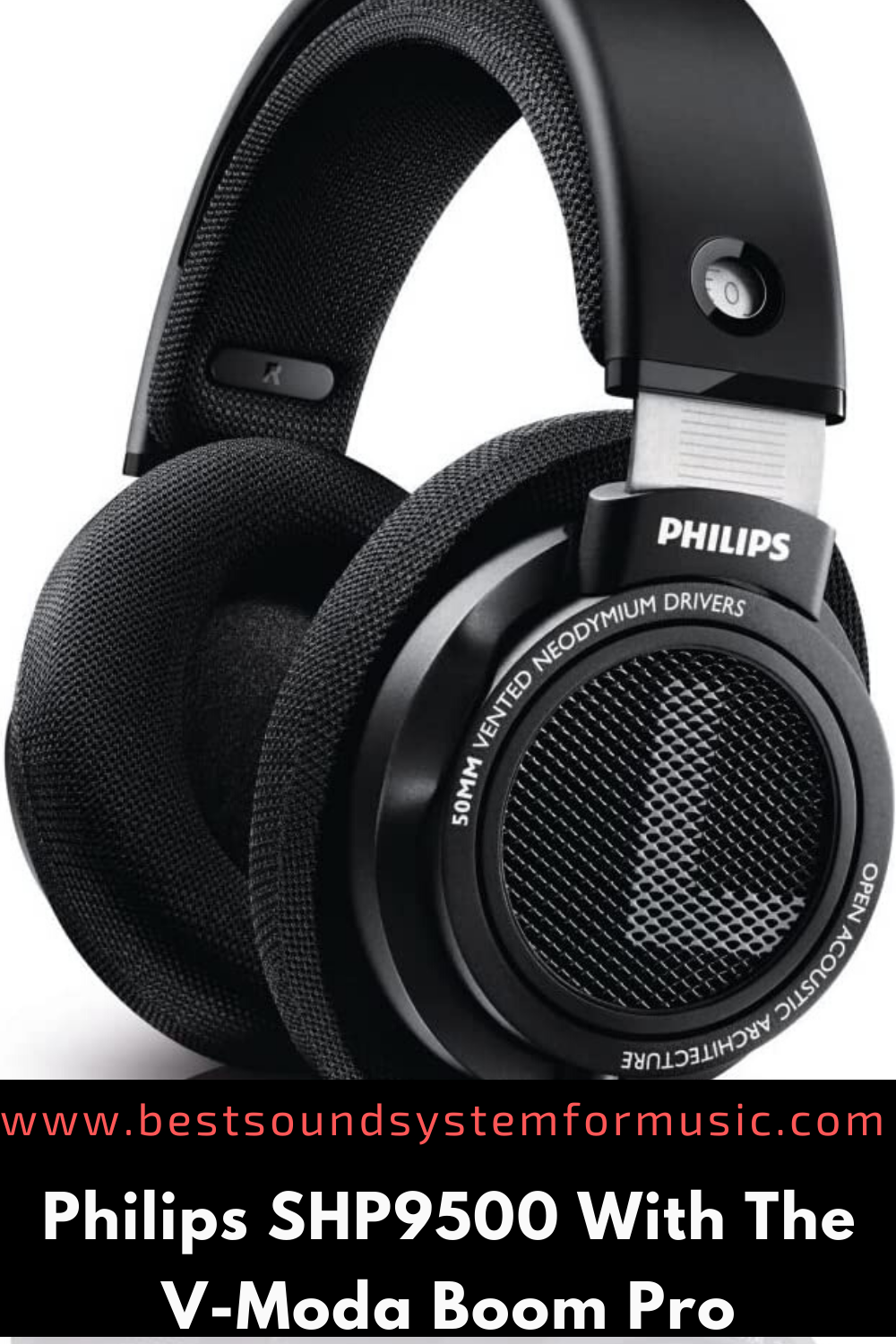 Philips SHP9500 With V-Moda Boom Pro