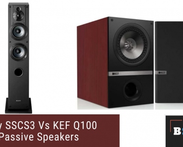 Sony SSCS3 Vs KEF Q100 Passive Speakers