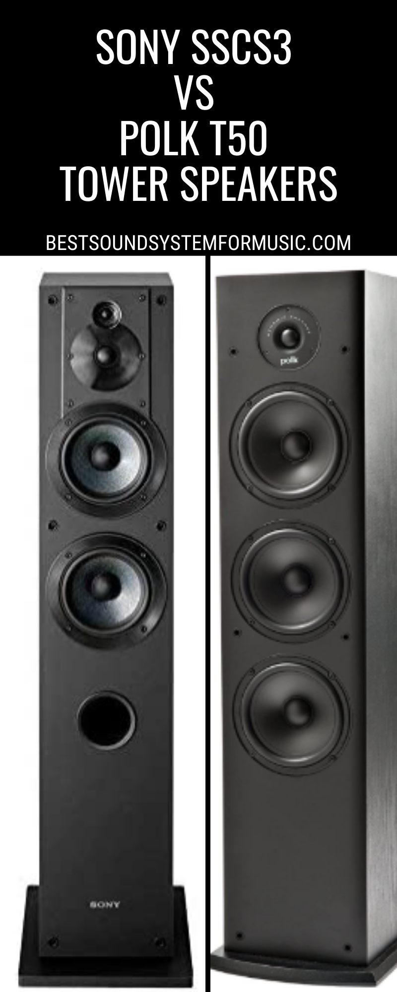 Sony SSCS3 Vs Polk T50 Tower Speakers