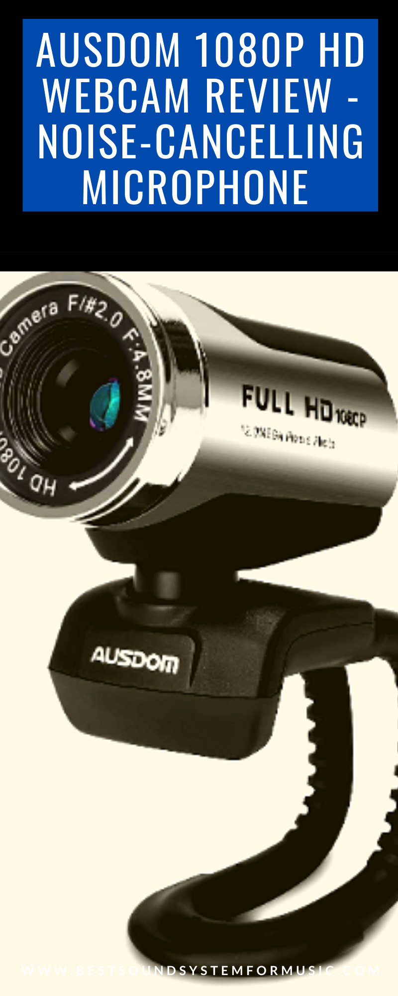 Ausdom 1080p HD Webcam Review - Cameras with Noise-cancelling Microphone